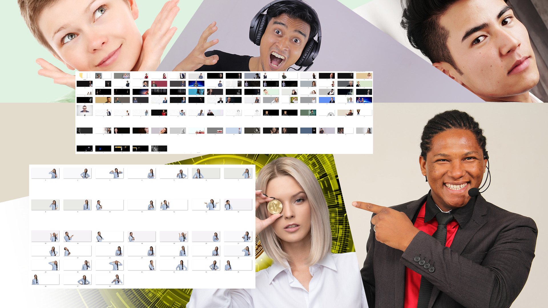 People Sections Volume 1 for Divi Elementor all page builders HTML and web design software